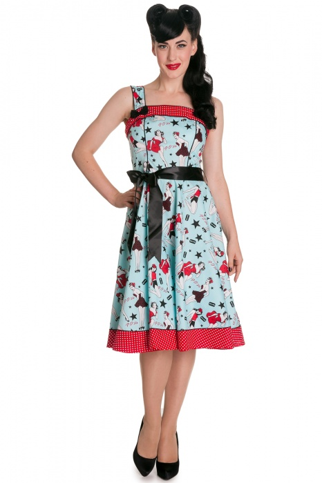 Dixie 50s Dress Blue