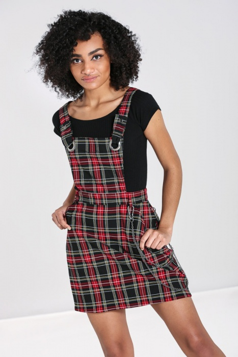 Clash Pinafore Dress