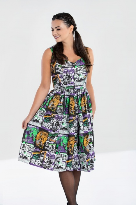 Be Afraid 50's Dress