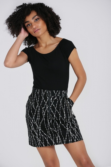 Barbed Wire Mini Skirt