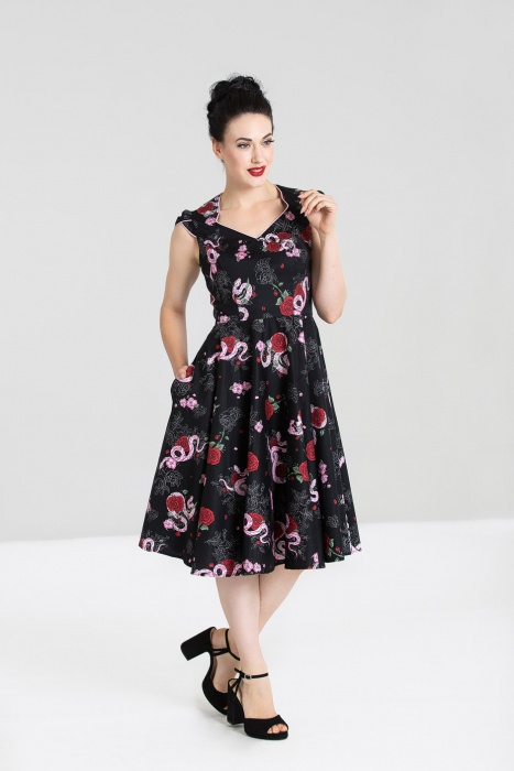 Python Rose 50's Dress